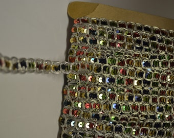 Multi-Colored Sequin Banding 1/2 Inch Wide