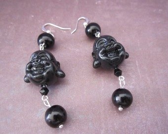 Buddha Head Beaded Earrings