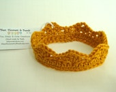 Crown for Baby Boy Photo Prop in Gold or Baby Blue, Crochet Baby Crown, Newborn Photo Prop