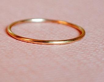 Rose Gold Ring/ Size 3.25 Ring/Thin Rose Gold Ring/Tiny Rose Gold Ring/Thin Rose Gold Band/Pink Gold/Teeny Weenie Ring *Solid 14k Rose Gold*