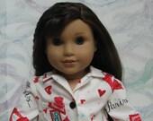 Paris Pajamas for American Girl Doll Grace Thomas