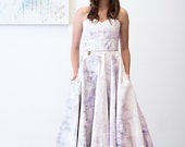Addy Wedding Dress / The epitome of a one of a kind Wedding Dress //  Sweet Heart Neckline Pockets and Fully Hand Painted