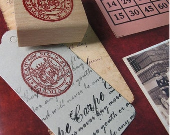 Vintage Seal Rubber Stamp