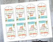 INSTANT DOWNLOAD Fishing Thank You Baby Shower Luggage Tags Printable cards by Luv Bug Design
