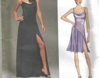 Vogue 2496 Belleville Sassoon Designer Dress,  Sz 8  10  12  Bust 31.5  32.5  34 Uncut