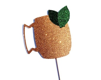 Moscow Mule Photo Prop - Photo Booth Props - GLITTER Photobooth Prop