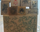 Herbs Assorted Mounted Rubber Stamps