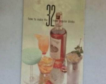 VINTAGE 1960 Southern Comfort liquor recipe  pamphlet