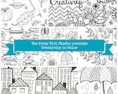 "The Artsy Girl Studio presents ""Creativity in Color""  Coloring Book"