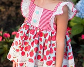 Kate Dress, Top, Ruffle Shorts and Handkerchief PDF Pattern & Tutorial, {Apron Dress Style} All Sizes 2T-10 years included