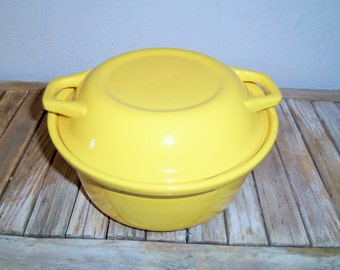 Vintage Yellow Casserole with Lid