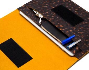 iPad mini Keyboard case, iPad mini bag, mini iPad folio case - Jaguar & Fulvous