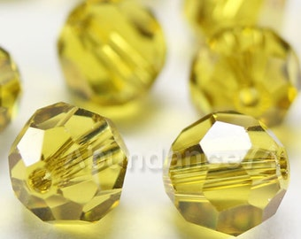 Swarovski Elements Crystal Beads 5000 Round Ball Beads LIME - Available in 4mm ,6mm and 8mm