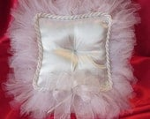 Tulle and Satin Custom made Ring Bearer's Pillow. Adds that special touch for that Special Day.