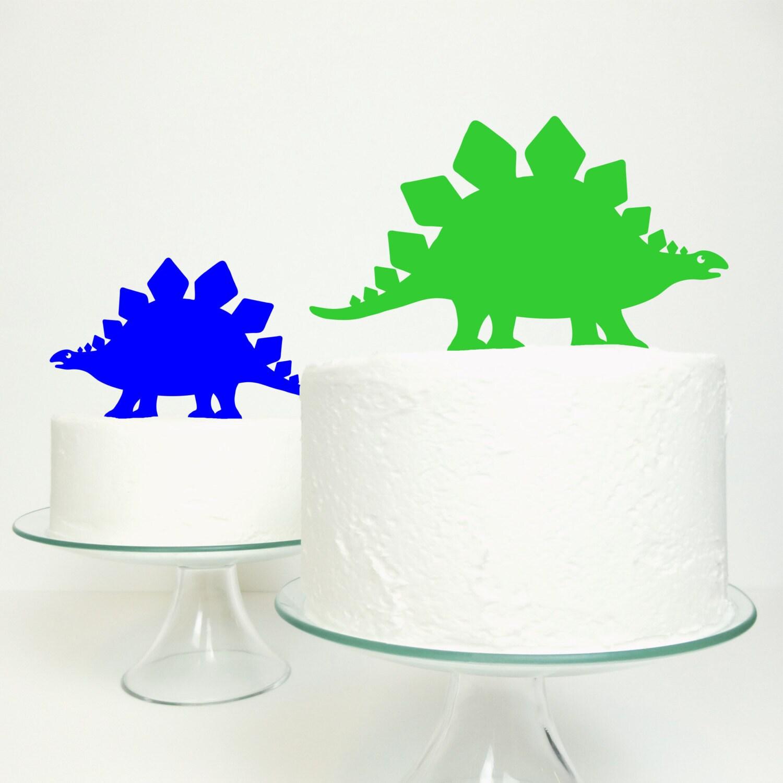 Dinosaur Cake Decorations Toppers : Stegosaurus Dinosaur Cake Topper