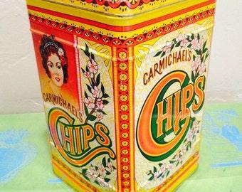 Tin Vintage Carmichaels Chips
