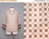 SALE Sheer Boho Blouse w/ Full Sleeves Size Large 1980s