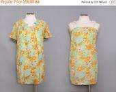 SALE 1960s Floral Mini Dress & Jacket / Vintage 60s Colorful Sundress / Small Medium