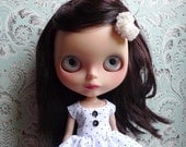 Black and White Polka Dot Blythe Dress Set   Pullip Dress