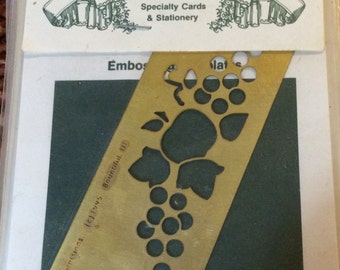 Heritage Handcraft  Brass Stencil  Apple Border  Dry or Wet Emboss  Stencil/template