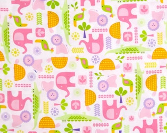 FLANNEL - Spring Animals From Robert Kaufman's The Wild Bunch Flannel Collection from Pink Light Designs