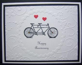 Tandem Bicycle Anniversary Card