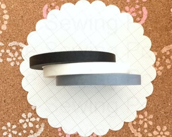 Thin Washi Tapes: Black and White