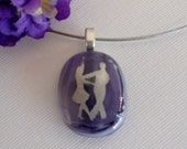 Dance Pendant Necklace  Fused Glass Pendant Ballroom Dance Pendant
