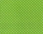 Michael Miller Fabric by the yard Pinhead Dot Kiwi 1 yard