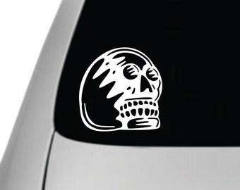 Skull Vinyl Car Decal, Windshield Sticker, Vinyl Car Sticker, Dia de los Muertos, Day of the Dead