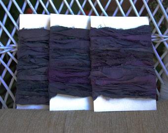 Midnight Blue Sari Silk Ribbon