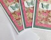 Butterfly Cards, Tall Size, Set of 3,  Thinking of You