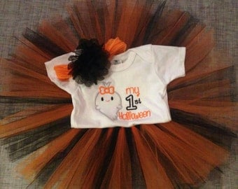 My First Halloween Tutu Outfit with matching headband