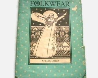 Vintage Folkwear Sewing Pattern 105 Syrian Dress Used
