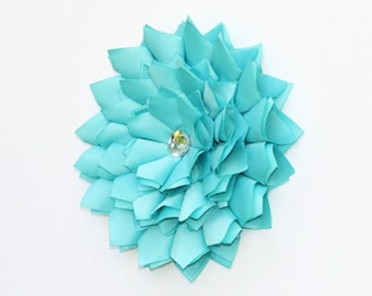 Wall Flower, Mint Green Satin Wall Art, Wall Hanging, Wall Art, 3D Flower Art, Wall Decor
