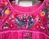 Vintage Pink Mexican Dress