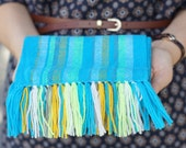 blue handwoven wrap merino wool scarf for baby READY TO SHIP! Baby Scarf