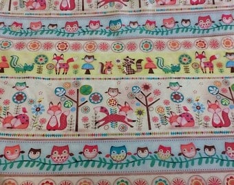 SPX Fabrics - Forest Friends sold by thr half metre