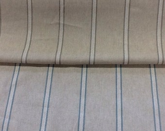 Girones 100% cotton zen stripe curtain fabric by the metre