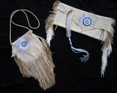 RESERVED - Beaded Deerskin Smudge Set