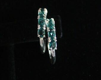 Wedding Earrings, Vintage Wedding Jewelry, Special Occasion Earrings, Hoop Earrings, Shower gift, Bridesmaid Dresses