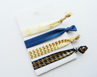 Anchor Nautucal Elastic Hair Ties, Ponytail Holders, Stretchy Ribbon Hair Ties, Elastic Hair Accessories, Hair Bands, Yoga Hair Ties, Boho