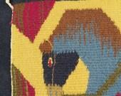 Small Mid Century Modern Hand Woven Wall Hanging Horse Tapestry, Ackerman Era