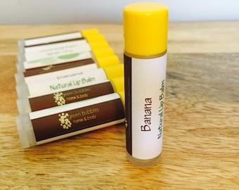 Banana Lip Balm, All Natural and Organic