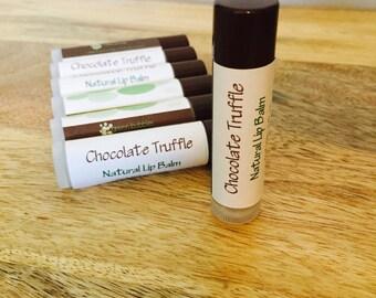 Chocolate Truffle Lip Balm, All Natural and Organic