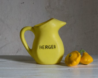 French BERGER Water Jug // Bistro Pitcher