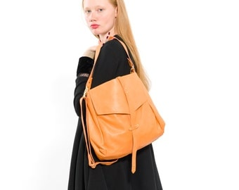 Nappa leather bag/Shoulder leather bag/Tote black bag/Soft leather bag