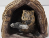 Woodland Surprises Beaver 1984 Franklin Mint hand painted