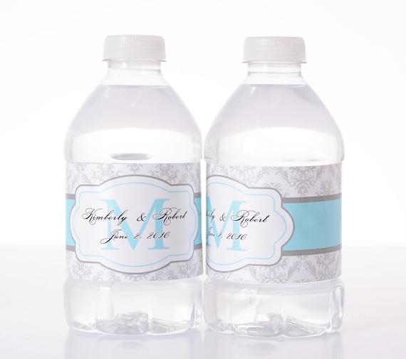 Wedding Decor - 30 Wedding Water Bottle Labels
