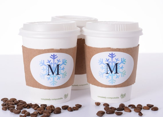 Winter Wedding Supplies 10 Wedding Coffee Cups Lids